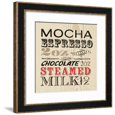 Mocha Words-Marco Fabiano-Framed Art Print