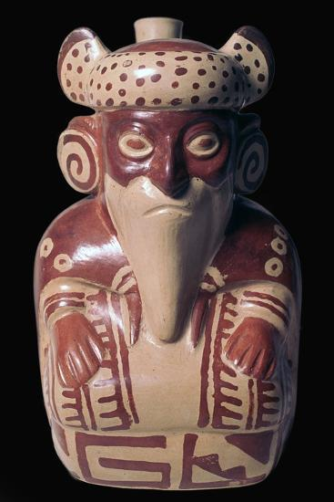 Mochica pottery sculpture of Viracocha. Artist: Unknown-Unknown-Giclee Print