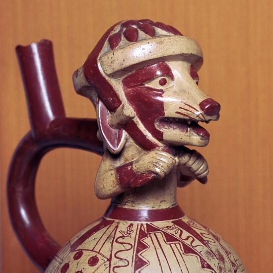 Mochicha stirrup-spout vessel, 1st century-Unknown-Giclee Print