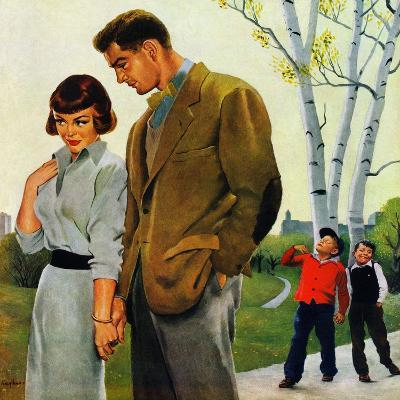 """Mocking Romance"", March 31, 1951-George Hughes-Giclee Print"