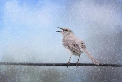 Mockingbird in the Snow-Jai Johnson-Giclee Print
