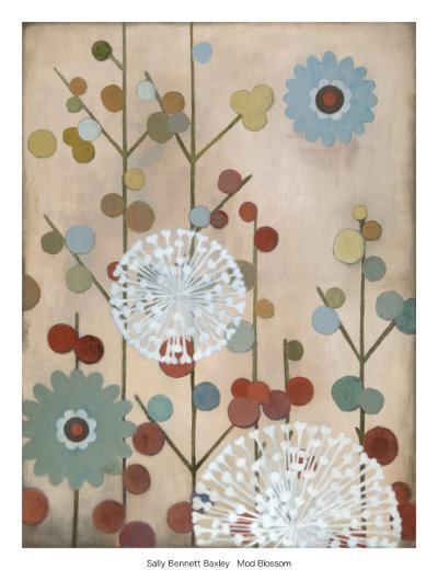 Mod Blossom-Sally Bennett Baxley-Art Print