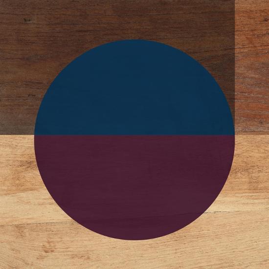 Mod Blue and Purple-Linda Woods-Art Print