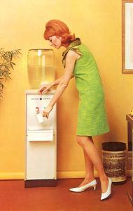 Mod Girl at Water Cooler