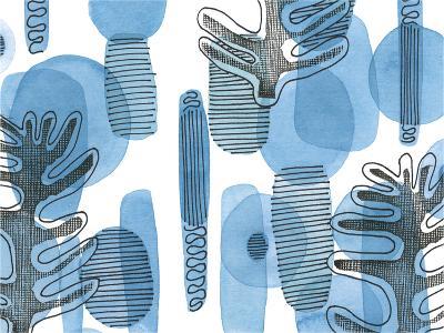 Mod Leaves II-Deborah Velasquez-Art Print