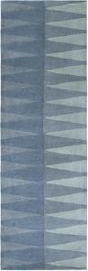 "Mod Pop Accordion Blue Runner by Bobby Berk - 2'6"" x 8'"
