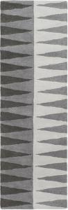 "Mod Pop Accordion Grey Runner by Bobby Berk - 2'6"" x 8'"
