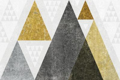 Mod Triangles I Gold-Michael Mullan-Art Print