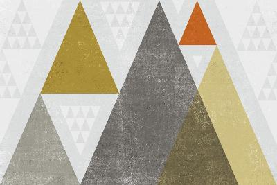 Mod Triangles I Retro-Michael Mullan-Art Print