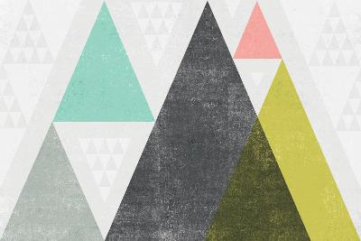 Mod Triangles I-Michael Mullan-Art Print