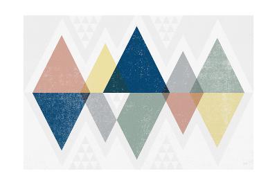 Mod Triangles II Soft-Michael Mullan-Art Print