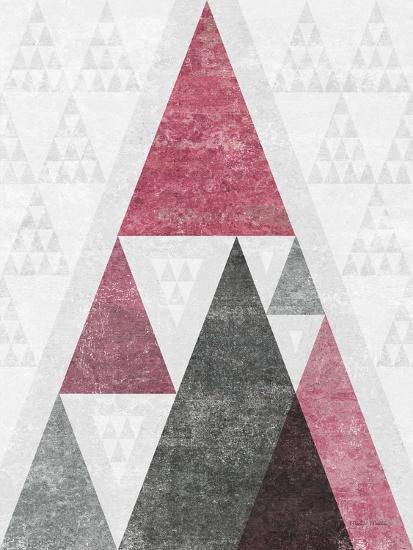 Mod Triangles III Soft Pink-Michael Mullan-Art Print