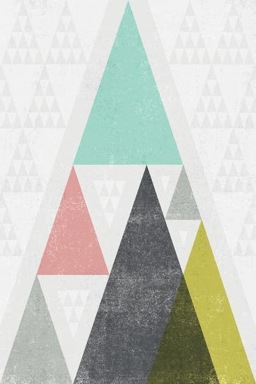 Mod Triangles III-Michael Mullan-Art Print