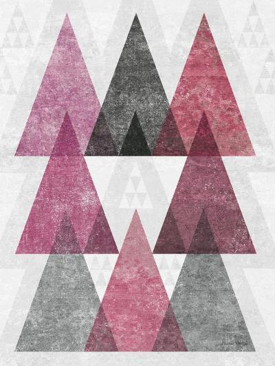 Mod Triangles IV Soft Pink-Michael Mullan-Art Print