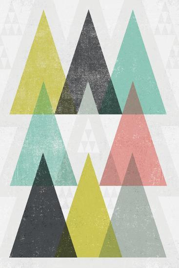 Mod Triangles IV-Michael Mullan-Art Print