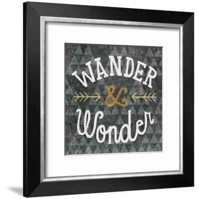 Mod Triangles Wander and Wonder Gold-Michael Mullan-Framed Art Print