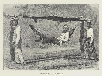 Mode of Travelling in Sierra Leone-Thomas Harrington Wilson-Giclee Print