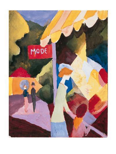 Modefenste-Auguste Macke-Premium Giclee Print