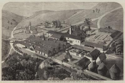 Model Farm Buildings and Workshops at Longleat, Wiltshire, the Seat of the Marquis of Bath--Giclee Print