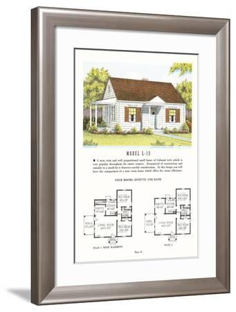 Model House and Floor Plan--Framed Art Print