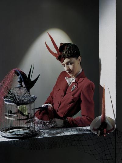 Model in Plaid--Premium Photographic Print