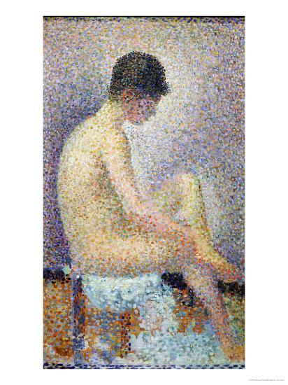 Seated Model Back - Georges Seurat Wallpaper Image