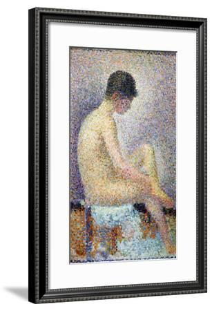 Model in Profile, 1886-Georges Seurat-Framed Giclee Print