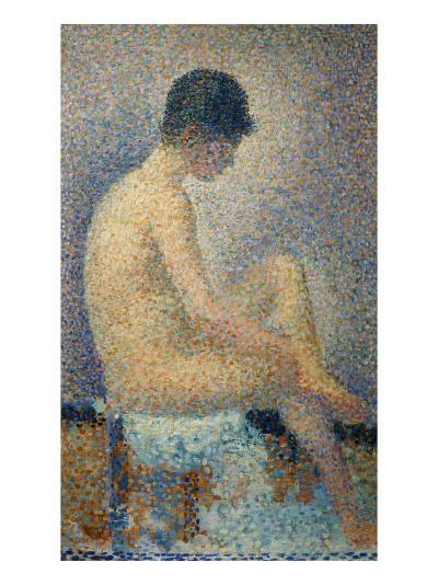 Model in Profile-Georges Seurat-Giclee Print