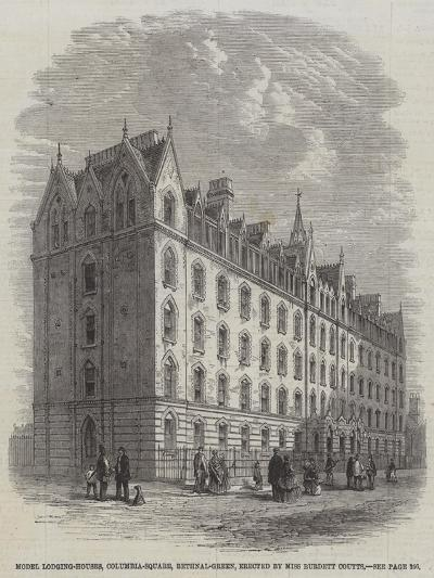 Model Lodging-Houses, Columbia-Square, Bethnal-Green, Erected by Miss Burdett Coutts--Giclee Print