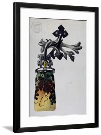 Model of a Number 1 Art Nouveau Wall Light of from Daum Brothers Manufacturing in Nancy--Framed Giclee Print