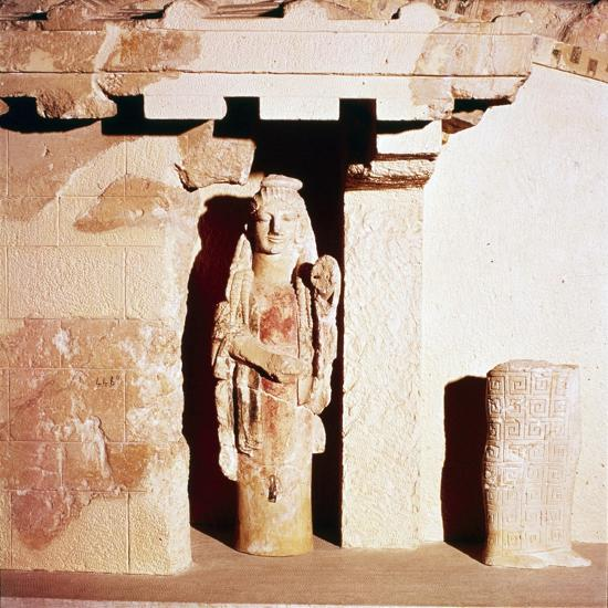 Model of ancient Temple of Athena, 6th century BC-Unknown-Giclee Print