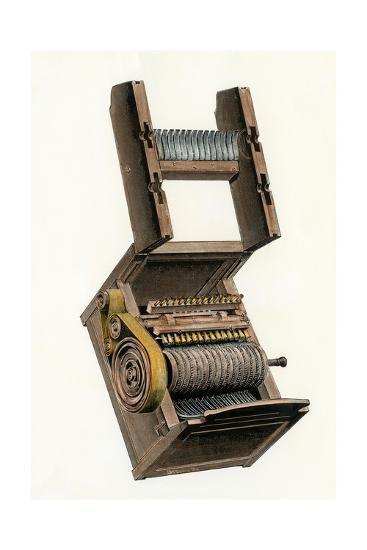 Model of Eli Whitney's Cotton-Gin--Photographic Print