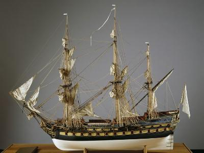 Model of Protecteur Ship, Launched in 1760, France, 18th Century--Giclee Print