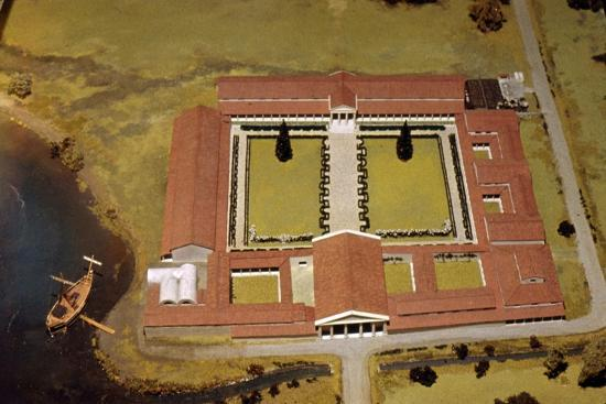 Model of Roman Villa, (Royal Palace) at Fishbourne, Sussex, England, c1st-3rd century-Unknown-Giclee Print