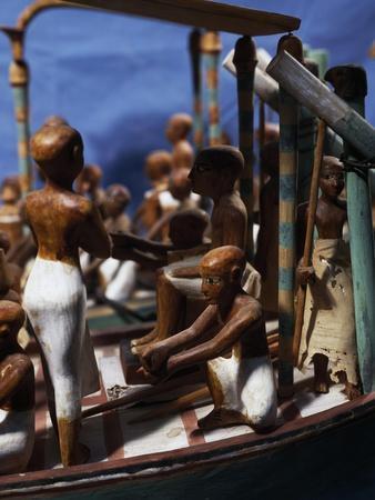 Model of Ship, Painted Wood, from Deir El-Bahari, Detail--Giclee Print