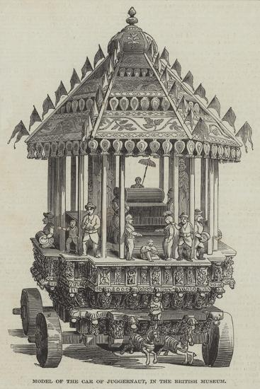 Model of the Car of Juggernaut, in the British Museum--Giclee Print