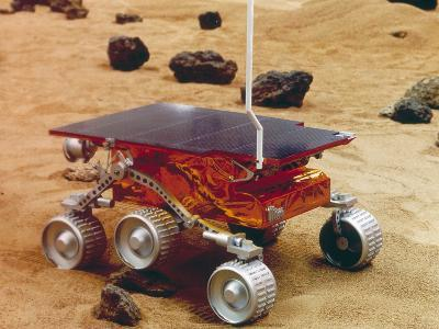 Model of the Mars Pathfinder Rover Sojourner--Photographic Print