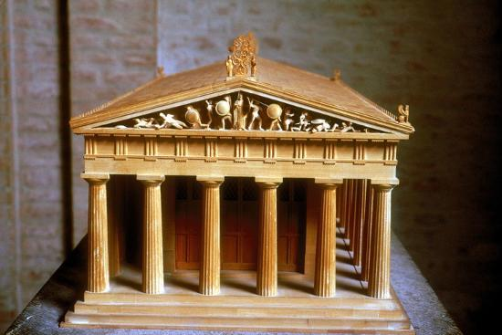 Model of the Temple of Aphaia at the Isle of Aegina, Greece, built c500-c480 BC. Artist: Unknown-Unknown-Giclee Print