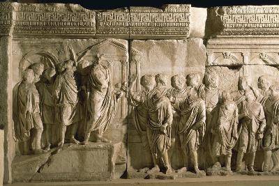 Model of Trajan's Column--Giclee Print