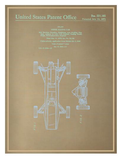 Model racing car blueprint art print by art model racing car blueprint art print malvernweather Choice Image