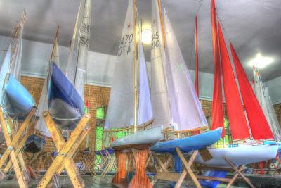 Model Sailboat Clubhouse-Robert Goldwitz-Photographic Print