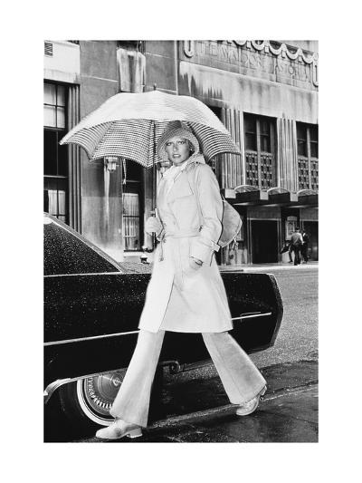 Model, Walking with an Umbrella by Givenchy-Kourken Pakchanian-Premium Giclee Print