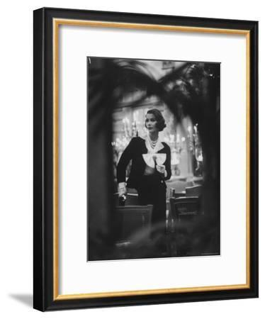 Model Wearing Latest Spring Fashions-Gordon Parks-Framed Premium Photographic Print