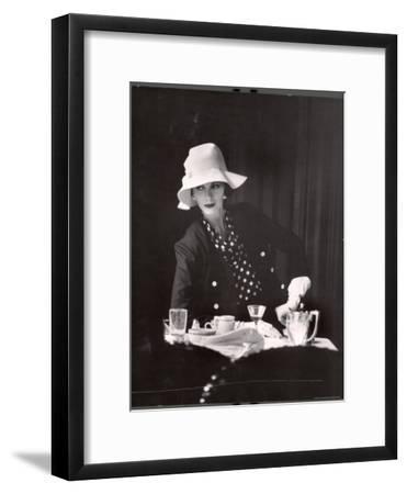 Model Wearing Latest Spring Fashions-Gordon Parks-Framed Premium Photographic Print