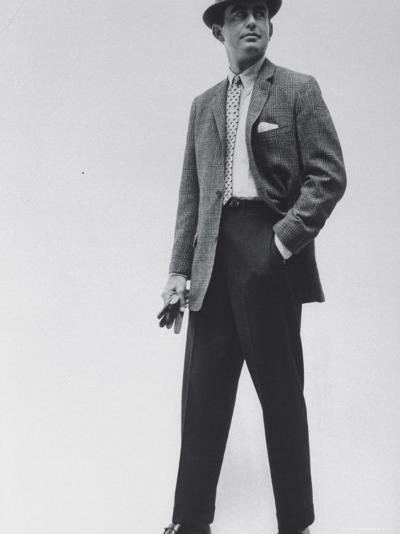 Model Wearing Proper Fashion Suits-Nat Farbman-Photographic Print