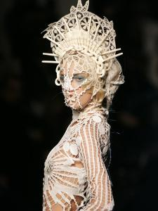 Model Wears a Creation by French Fashion Designer Jean-Paul Gaultier