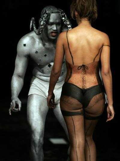 Model Wears Body Art by Ecuadorean John Vargas During the Colombia Exposhow 2009--Photographic Print
