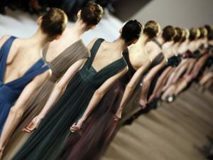 Model Wears Creations by Lebanese Fashion Designer Elie Saab