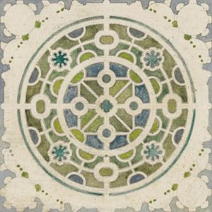 Modèle de parterre de jardin circulaire