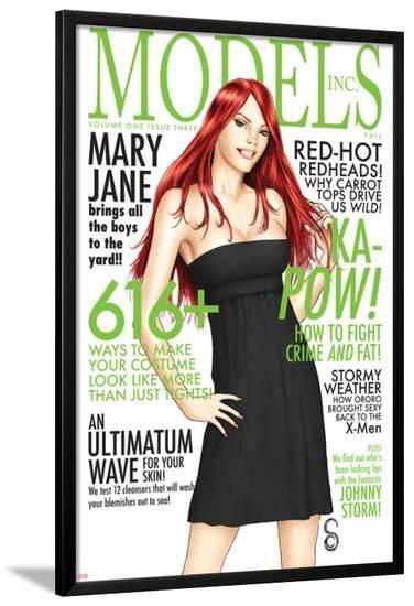 Models, Inc. No.3 Cover: Watson and Mary Jane-Scott Clark-Lamina Framed Poster